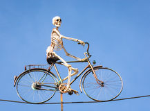 Cycling skeleton Royalty Free Stock Photos