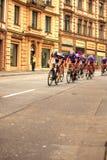 Cycling Speed. The classical cycling race 'Rund um den Finanzplatz Eschborn-Frankfurt' also called Eschborn-Frankfurt City Loop took place this year in the first stock image