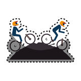 Cycling sport emblem icon Royalty Free Stock Photo