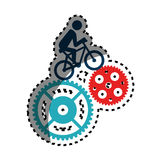 Cycling sport emblem icon Stock Photography