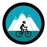 Cycling sport emblem icon Royalty Free Stock Images