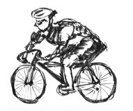 Cycling sports sketch Stock Photo