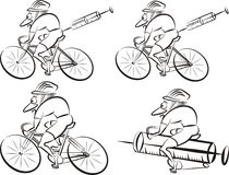 Cycling- strong cyclist Stock Image
