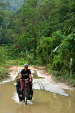 Cycling through Sumatra Stock Photography