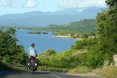 Cycling through Sumbava Royalty Free Stock Photos