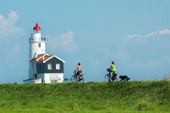 Cycling in summer Stock Image