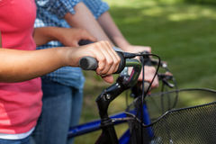 Cycling in summer Royalty Free Stock Image