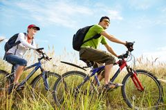 Cycling in summertime Stock Photo