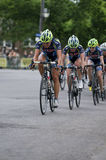 Cycling Team Heads Pack at Uptown Criterium Stock Images