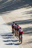Cycling team racing Royalty Free Stock Image