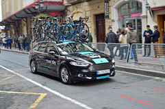 Cycling Team Sky Car And Bikes Stock Photos