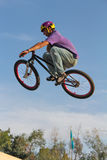 Cycling teenager BMX Stock Image