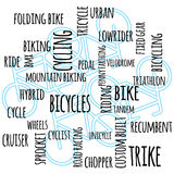 Cycling themed word graphic Royalty Free Stock Images