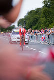 Cycling Time Trialist, Hampton Court Royalty Free Stock Photos