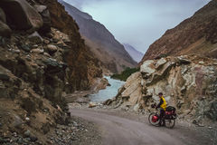 Cycling to Chitral Royalty Free Stock Photo