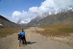 Cycling to Shandur Pass Royalty Free Stock Photo