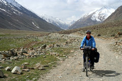 Cycling to Shandur Pass Stock Photos