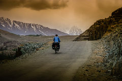 Cycling to Shandur Pass Royalty Free Stock Photos