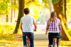 Cycling Together Royalty Free Stock Images
