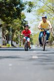 Cycling together Stock Photography