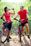 Cycling together Stock Images