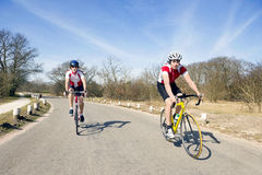 Cycling tour Stock Images