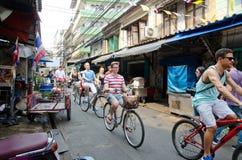 Cycling tour at Bangkok, Thailand. Stock Images