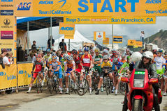 Cycling Tour of California. 2010 Amgen cycling Tour of California, Stage 3.  Start in San Francisco on May 18, 2010 Stock Photo