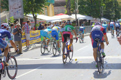 Cycling Tour finish line Stock Images