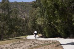 Cycling Track. Cyclist on a track Stock Photos
