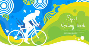Cycling Track Athlete Sport Competition Colorful Banner Royalty Free Stock Photo