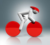 Cycling Track 3D symbol, Olympic sports Stock Images