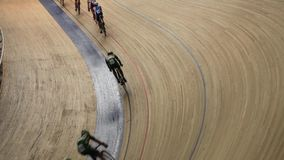 Cycling track Pursuit competition stock video footage