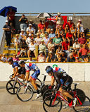 Cycling track start race Stock Image