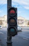 Cycling traffic light Royalty Free Stock Photo