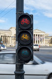 Cycling traffic light Stock Photography