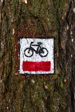 Cycling trail symbol Stock Photo