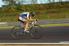 Cycling Training on the track car Royalty Free Stock Images