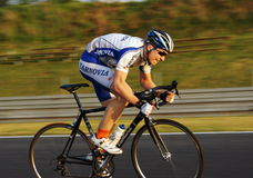 Cycling Training on the track car Stock Image