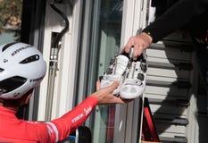 Cycling Trek team training camp in Mallorca Stock Photos