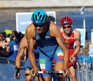 Cycling triathlete Alessandro Fabian (ITA) Stock Images