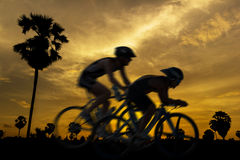 Cycling on twilight Royalty Free Stock Photos