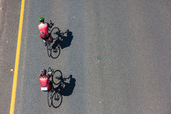 Cycling  Man Woman Stock Images