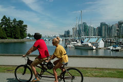 Cycling Vancouver B.C., Canada Royalty Free Stock Photo