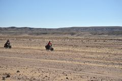 Cycling in the vast Altiplano Stock Image