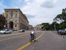 Cycling, Verona Royalty Free Stock Photography