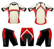 Cycling vest sports t-shirt on red colors style Stock Photos