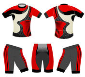 Cycling vest sports t-shirt red style Royalty Free Stock Images