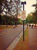 Cycling and walking paths royalty free stock image