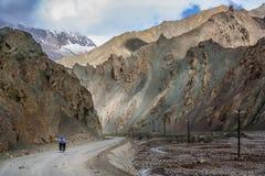 Cycling through Western Tibet Royalty Free Stock Photos